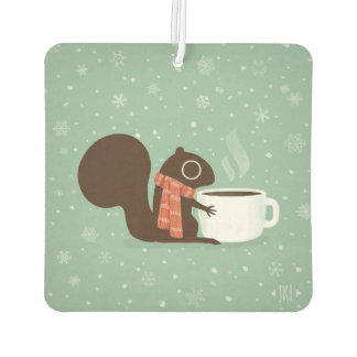 Squirrel Coffee Lover Woodland Winter Holiday