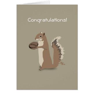 Squirrel Congratulations Card