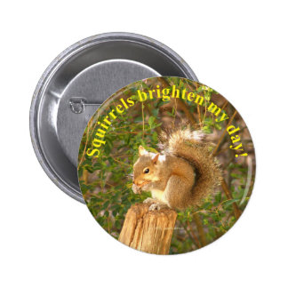 Squirrel Day Brightener 6 Cm Round Badge