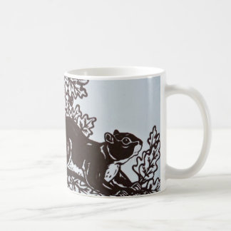 Squirrel Design in Brown and White Elegant Mug