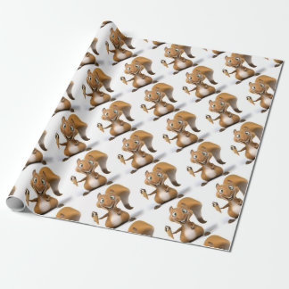 squirrel design wrapping paper