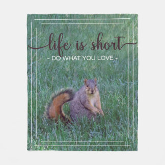 "Squirrel ""Do What You Love"" Blanket"