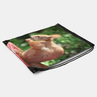 Squirrel Drawstring Bag