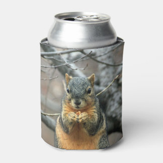 Squirrel Eating a Nut Can Cooler