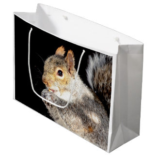 Squirrel eating a nut large gift bag