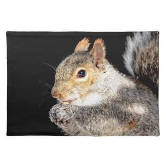 Squirrel eating a nut placemat