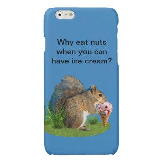 Squirrel Eating Ice Cream Cone Glossy iPhone 6 Case
