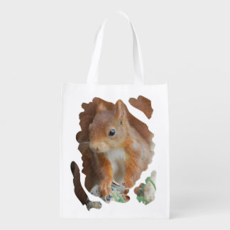 Squirrel ~ Écureuil ~ squirrels ~ by JL GLINEUR Reusable Grocery Bag