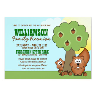 Squirrel Family Reunion Invitations
