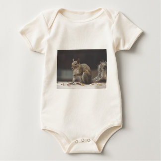 Squirrel Fluffy Baby Bodysuit