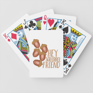 Squirrel Friend Bicycle Playing Cards