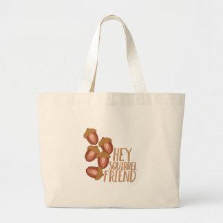 Squirrel Friend Large Tote Bag