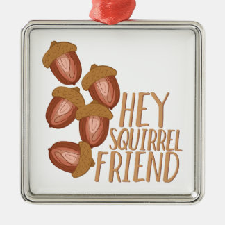 Squirrel Friend Metal Ornament