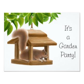 Squirrel Garden Party Invitation