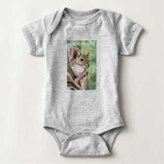Squirrel Gender Neutral Outfit Baby Bodysuit