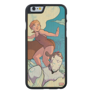 Squirrel Girl Flying With Superior Iron Man Carved Maple iPhone 6 Case