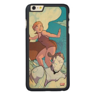 Squirrel Girl Flying With Superior Iron Man Carved® Maple iPhone 6 Plus Case