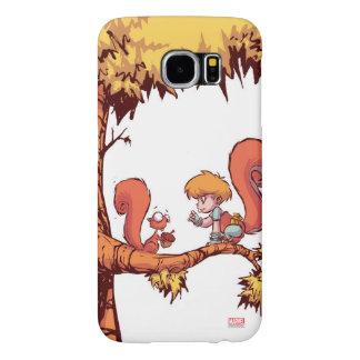 Squirrel Girl Getting Acorn Samsung Galaxy S6 Cases