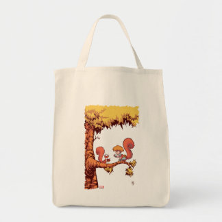 Squirrel Girl Getting Acorn Tote Bag