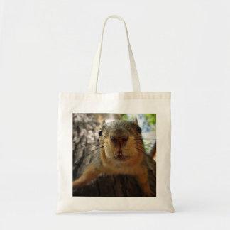 Squirrel Hanging Closeup 1 Tote Bag