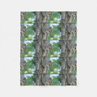 Squirrel Hanging in A Tree Fleece Blanket