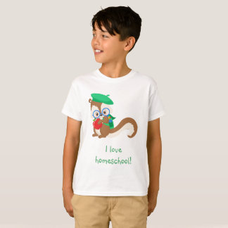 Squirrel I love homeschool T-Shirt