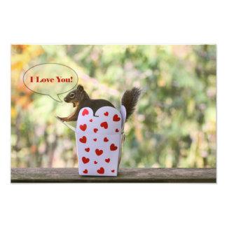 "Squirrel ""I Love You"" Valentine Art Photo"