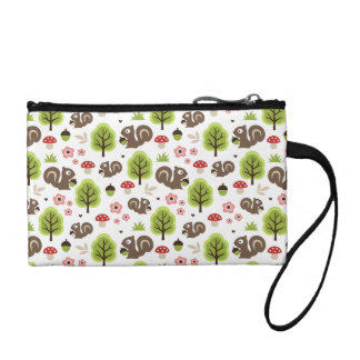 Squirrel in The Oak Forest Pattern Coin Purse