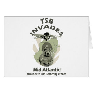 Squirrel Invades Mid Atlantic dk lettering Greeting Card