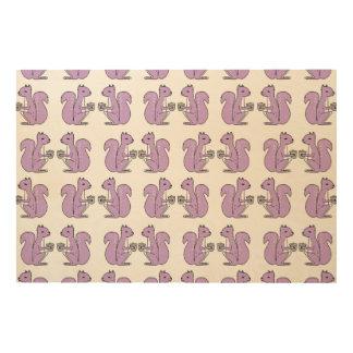 Squirrel - Lilac Pastel Purple / Andrea Lauren Wood Canvases