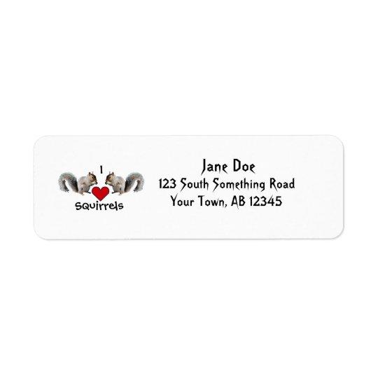 Squirrel Love Return Address Label