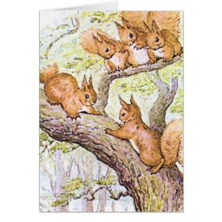 Squirrel Meeting Greeting Card
