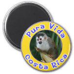 Squirrel Monkey, Pura Vida, Costa Rica Refrigerator Magnets