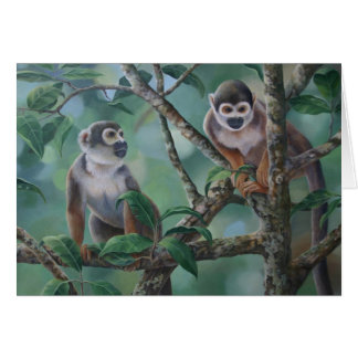 Squirrel Monkeys Card