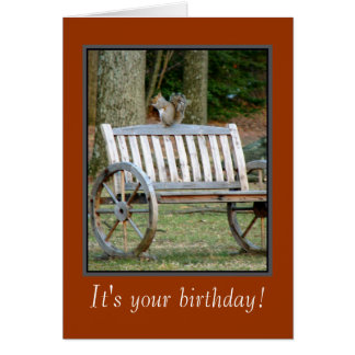 Squirrel n Nut' Birthday Card