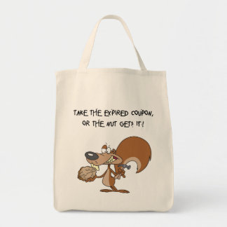 Squirrel & Nut Grocery Tote Grocery Tote Bag
