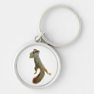 Squirrel on Cell Phone Keychain