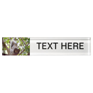 squirrel on log cute animal c nameplate