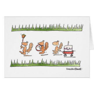 Squirrel Parade Card