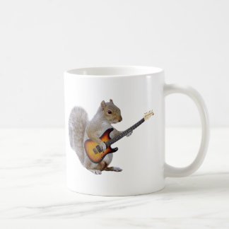 Squirrel Playing Guitar Coffee Mug