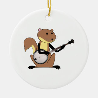 Squirrel Playing the Banjo Ornaments