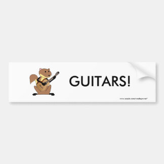 Squirrel Playing the Guitar Bumper Sticker