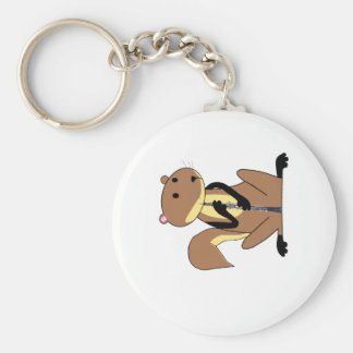 Squirrel Playing the Oboe Key Ring