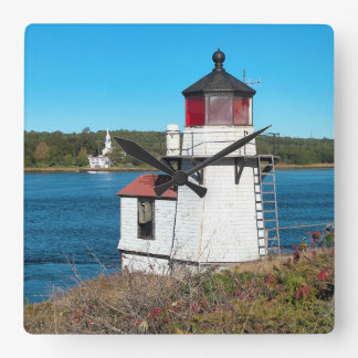 Squirrel Point Lighthouse, Maine Square Wall Clock