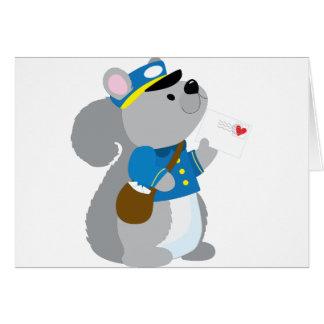 Squirrel Postman Card