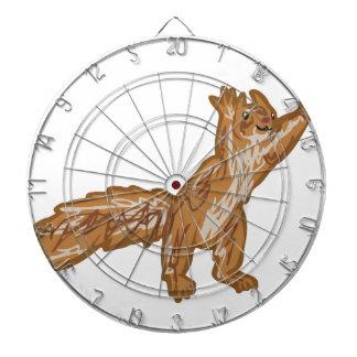 squirrel reaching dart board