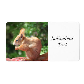Squirrel Shipping Label