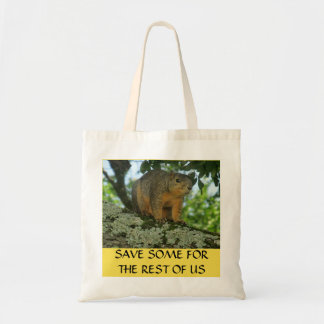 Squirrel shopping tote