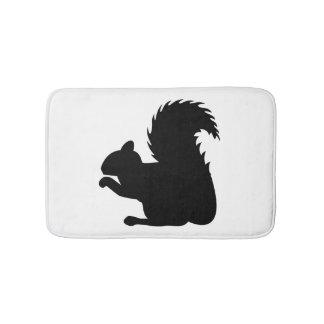 Squirrel Silhouette Bath Mat