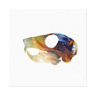 Squirrel Skull Art Canvas Print